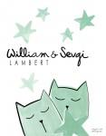 Print Babies Kittens Green