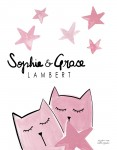 Print Babies Kittens Pink