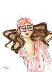 Print Pink Glasses