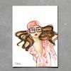 Pink Glasses Print
